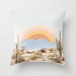 Arizona Sun rise Throw Pillow