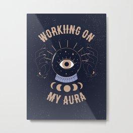 Working On My Aura Metal Print