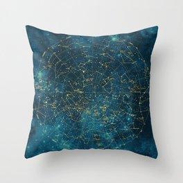 Under Constellations Throw Pillow