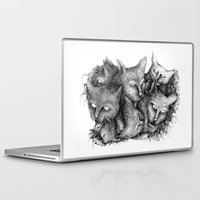 cats Laptop & iPad Skins featuring Cats by Andreas Derebucha