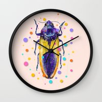 insect Wall Clocks featuring INSECT IX by dogooder