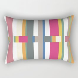 Geometric Glitch Rectangular Pillow
