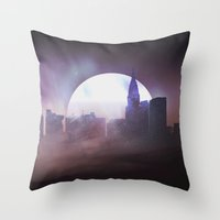 skyline Throw Pillows featuring Skyline by Frank Kupshik