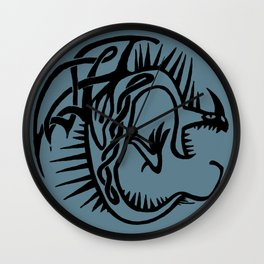 Celtic Knotwork Deadly Nadder (Black) Wall Clock