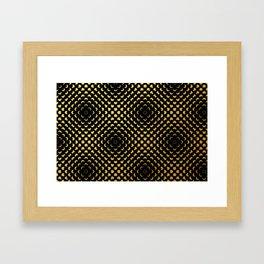 Black and gold pattern Framed Art Print