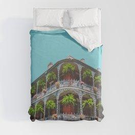 Hanging Baskets of Royal Street, New Orleans Duvet Cover