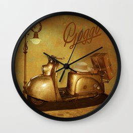 Goggo scooter from the 50s Wall Clock