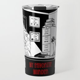 The Cat on the Case Travel Mug