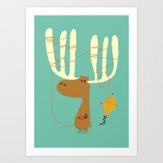A moose ing Art Print