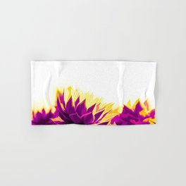 Purple and Yellow Houseleeks Hand & Bath Towel