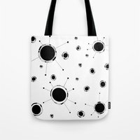 outer space Tote Bags featuring Outer Space by Anna illustrates
