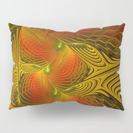 Mysterious and Luminous, Abstract Fractal Art Pillow Sham