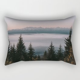 Faraway Mountains - Landscape and Nature Photography Rectangular Pillow