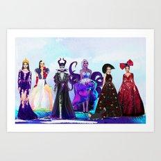 Wicked Queens. Art Print