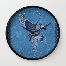 Aboriginal Hawk Wings Attack Wall Clock
