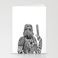 storm trooper Stationery Cards featuring Storm Trooper  by ATELOPHILIA DESIGNS