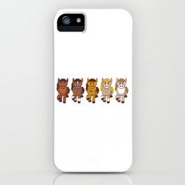 Horsing Shirt For Horse Lovers With Illustration Of Different Color Of Horses T-shirt Design iPhone Case