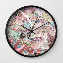 Columbus map Georgia Wall Clock