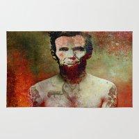 tatoo Area & Throw Rugs featuring Abraham Tatoo by Ganech joe