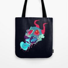 pink skull goop Tote Bag