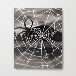 Redback Spider Metal Print