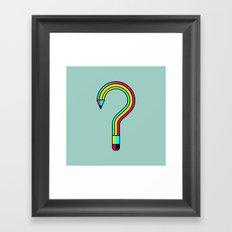 2B or not 2B? Framed Art Print