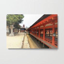 Shrines and Pagodas Metal Print
