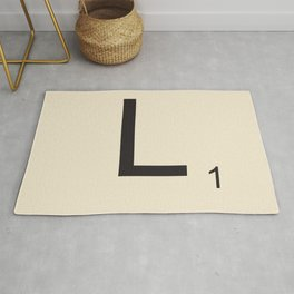 Scrabble L Rug