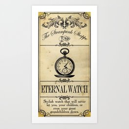 Steampunk Apothecary Shoppe - Watch Art Print
