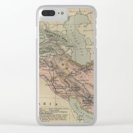 Map of Macedonion Empire Middle East Plan of Tyre from 332 BC Clear iPhone Case