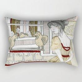Window Shopping Rectangular Pillow