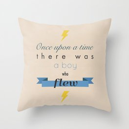 there was a boy who flew Throw Pillow