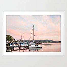 Lake Windermere at Sunset Art Print