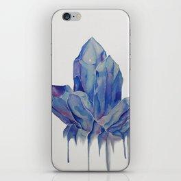 Blue Crystal iPhone Skin