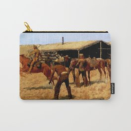 """Frederic Remington Western Art """"Pony Express"""" Carry-All Pouch"""