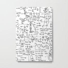 Basic Physics Formula Metal Print