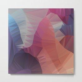 Flower — Poster, scandinavian, art, art print, geometric, pastel, friends, love, summer, nature Metal Print