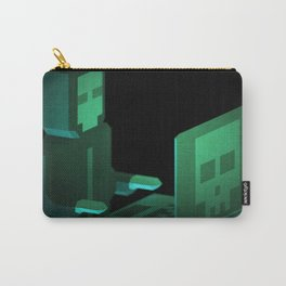 Hacker low-poly 3D artwork Carry-All Pouch