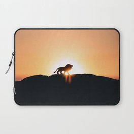 Lion Sunset Silhouette (Color) Laptop Sleeve