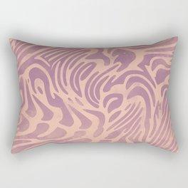 Watercolor Beige Pattern Rectangular Pillow