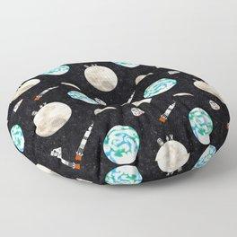 Moon Landing 1969 Floor Pillow