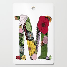 Floral Letter M Cutting Board