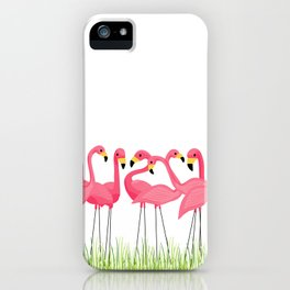 Cuban Pink Flamingos iPhone Case