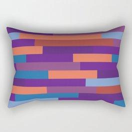 Colorful Wood Layout Geometric Patterns Rectangular Pillow