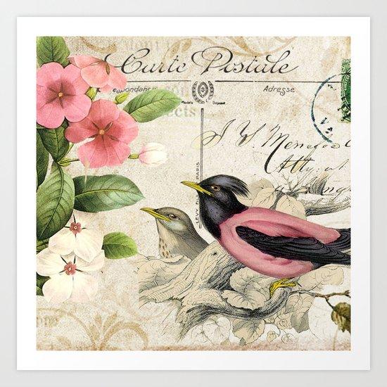 Sweet birds #6 Art Print