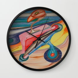 Prosthetic Bird Wall Clock