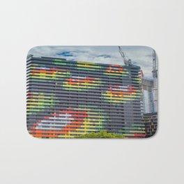 Colourful City Building Bath Mat