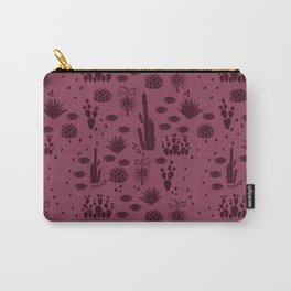 Desert Hike in Plum Carry-All Pouch