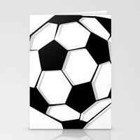 soccer Stationery Cards featuring Soccer by An Luong