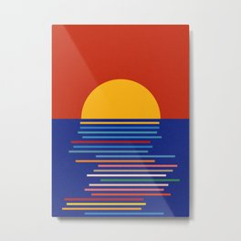 Sunset Sicily Metal Print